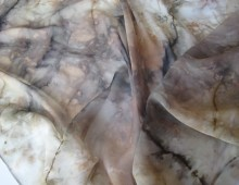 natural dyes silk scarves