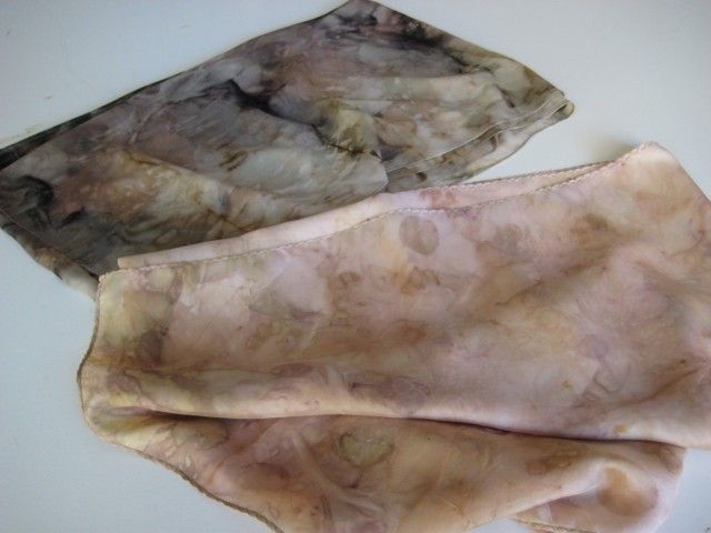natural dyes silk georgette scarf
